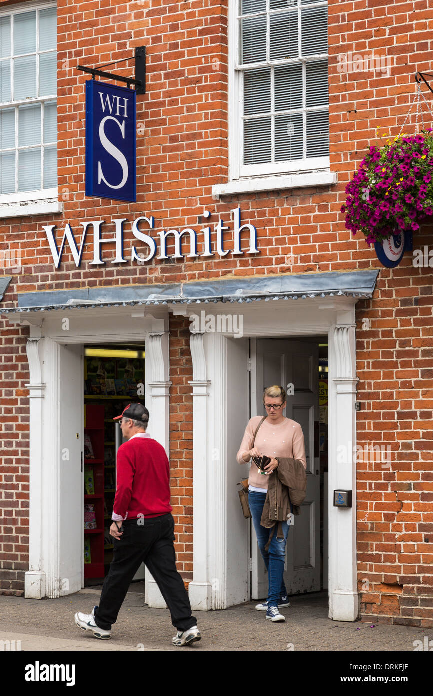 Shoppers at WH Smith stationers shop - Stock Image