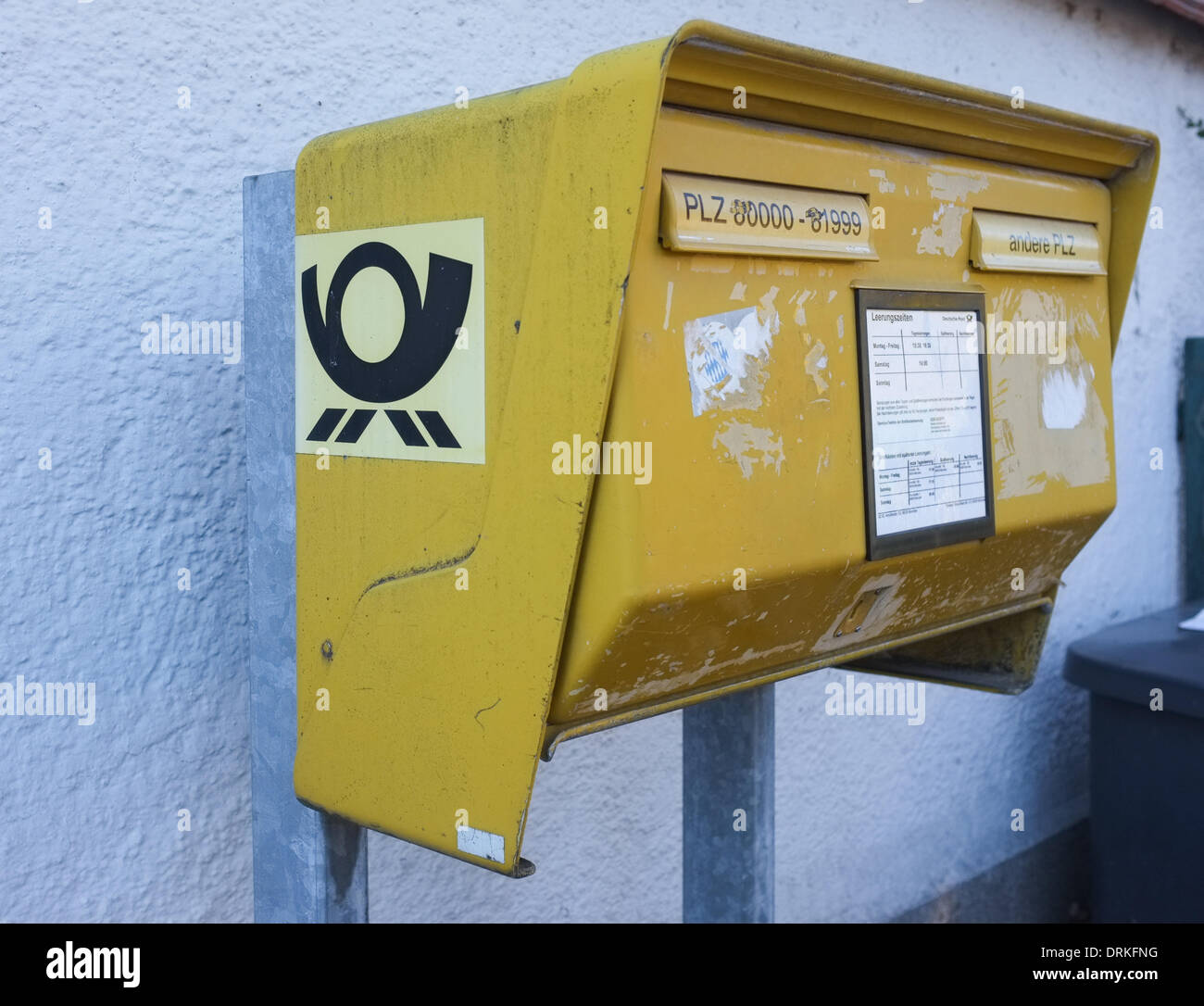 Letterbox in Munich in December 2013. Stock Photo