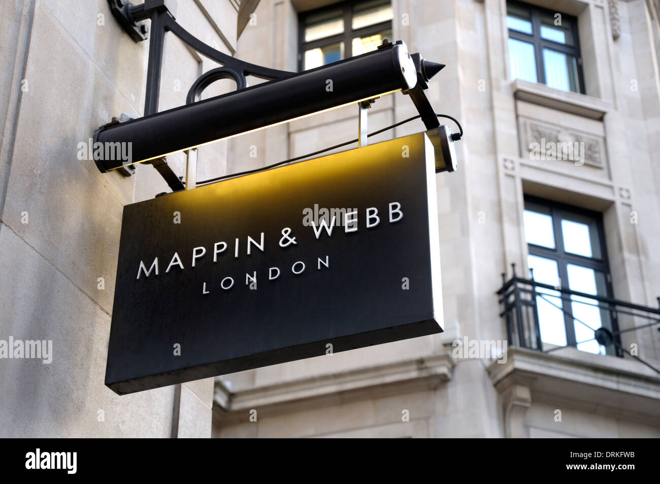 London, England, UK. Mappin and Webb sign in Regent Street - Stock Image