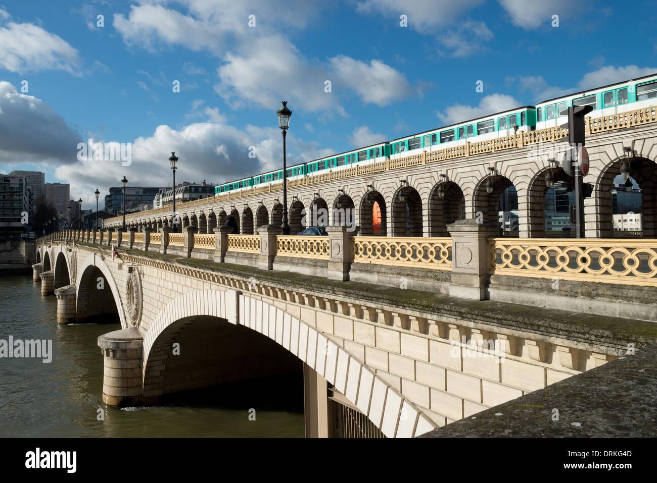 Pont de Bercy Paris France -1 - Stock Image