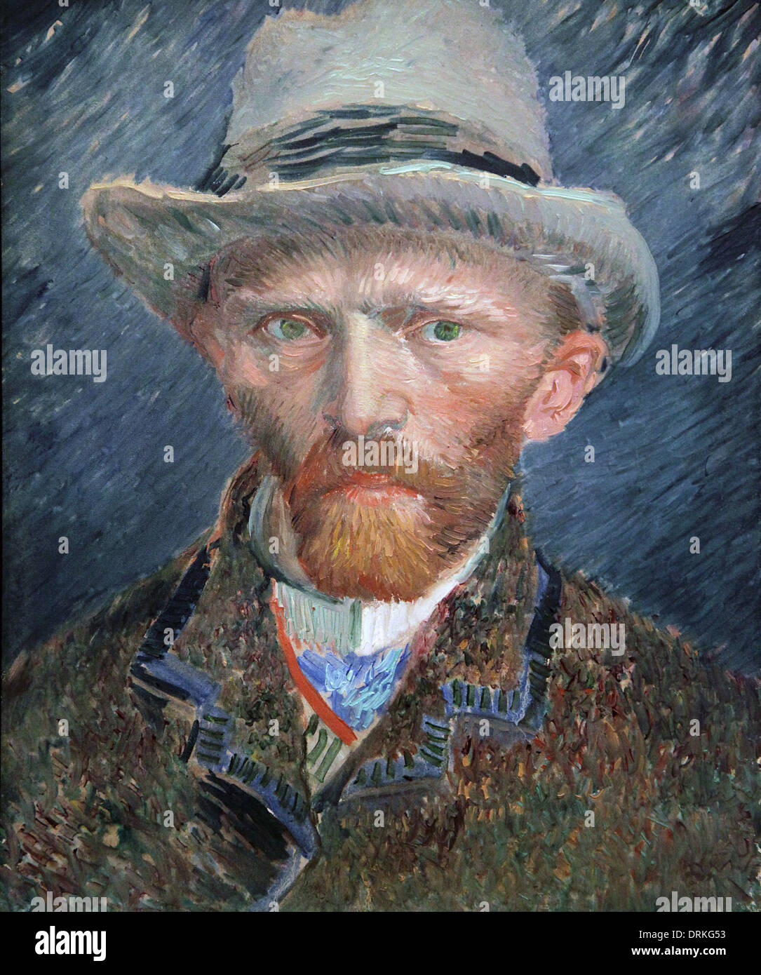 Vincent van Gogh.selfportrait in Paris 1887. - Stock Image