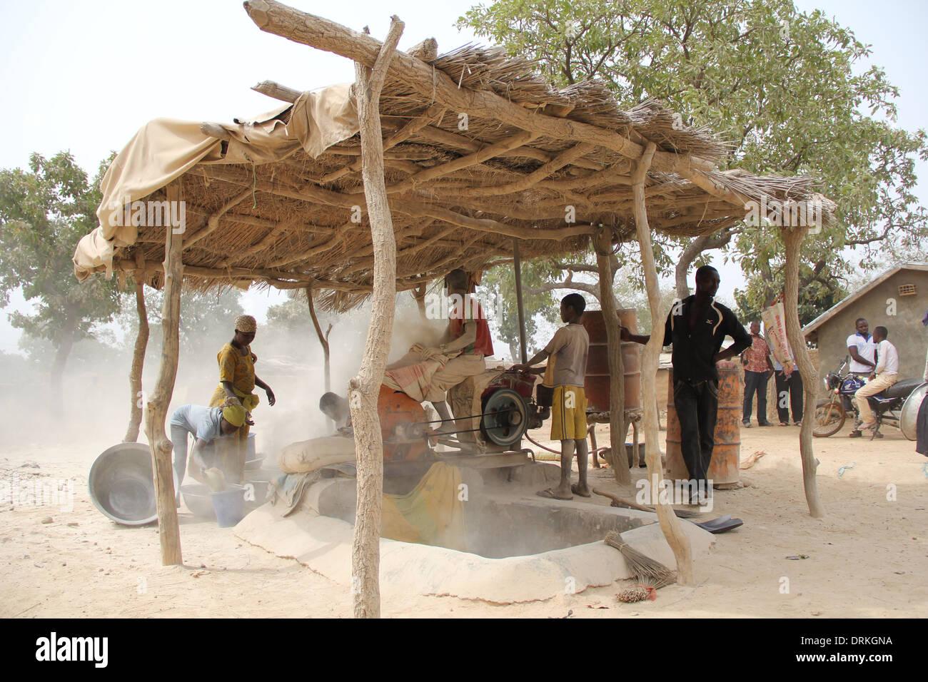 Working in village workshops; Ghana - Stock Image