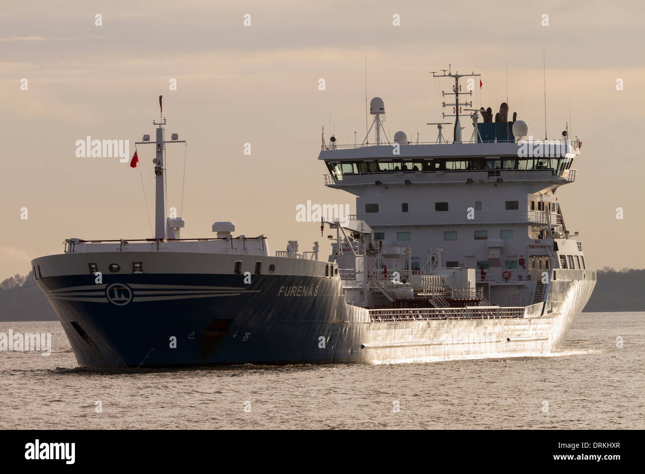 Furenas oil chemical tanker River Mersey, Liverpool, England - Stock Image