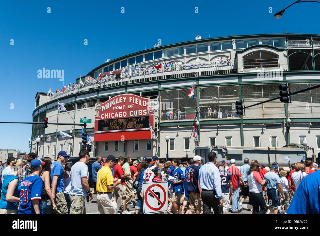 Wrigley Field, Chicago, Illinois - Stock Image