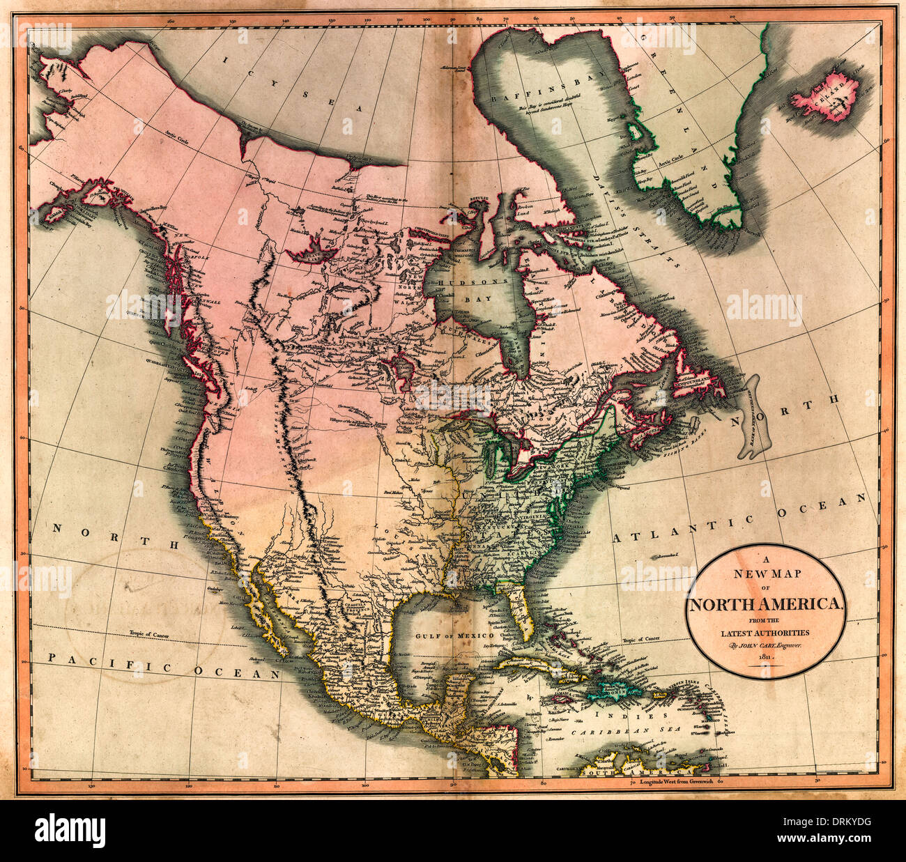 A new map of North America from