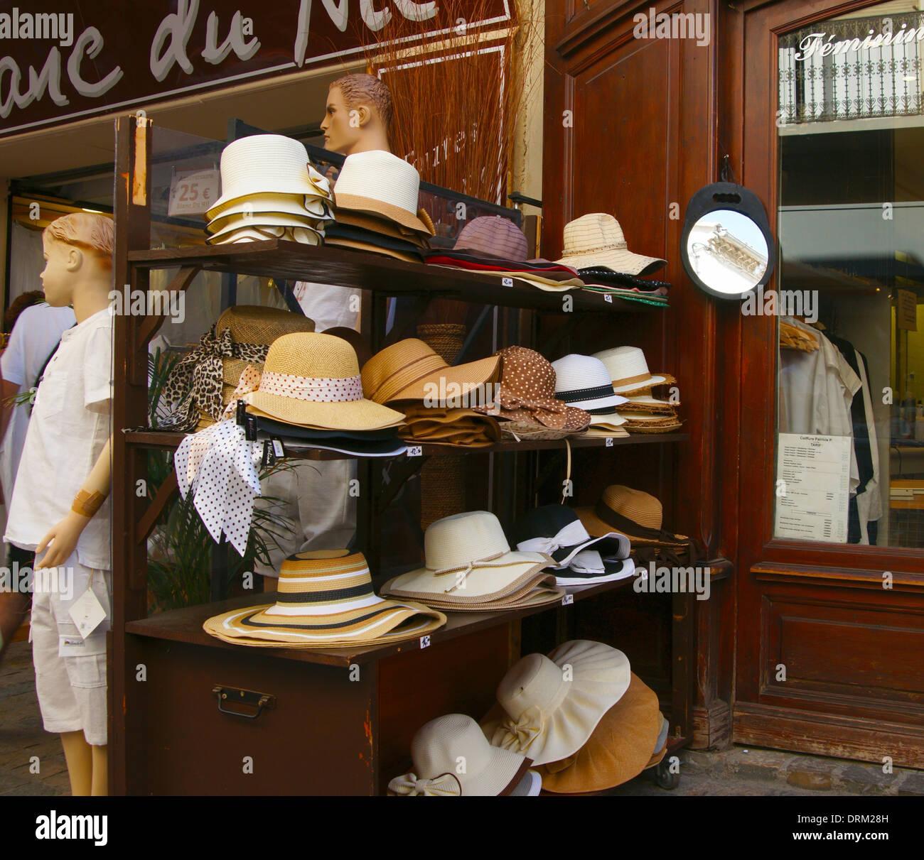 The Hat Shop,  Aigues-Mortes, 30220  France - Stock Image