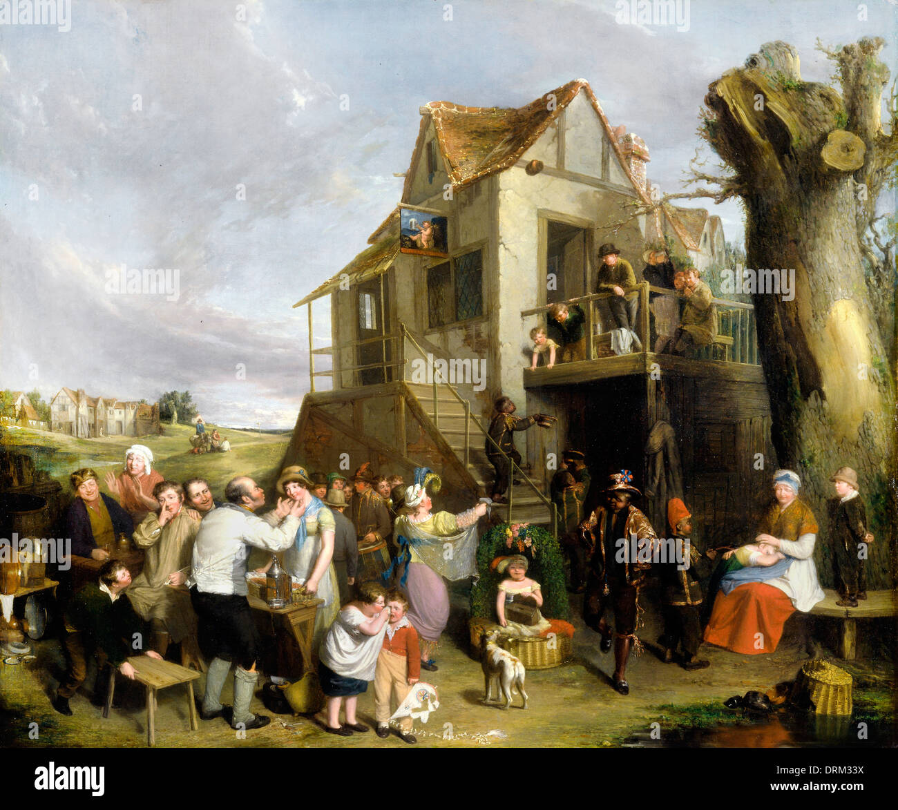 William Collins, May Day 1811-1812 Oil on canvas. Yale Center for British Art, New Haven, USA. - Stock Image