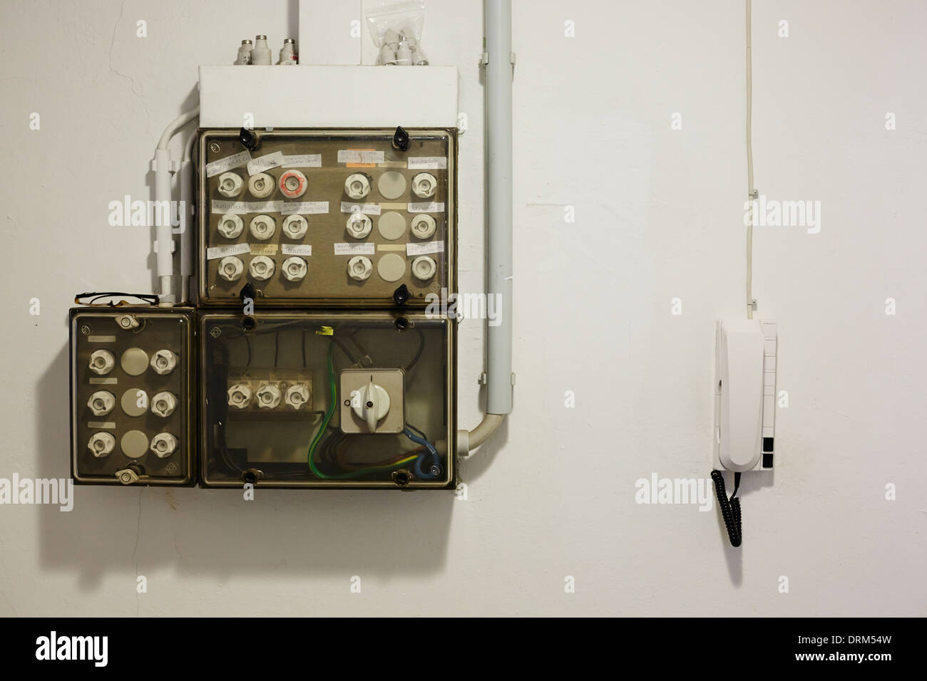 old fuse box - stock image