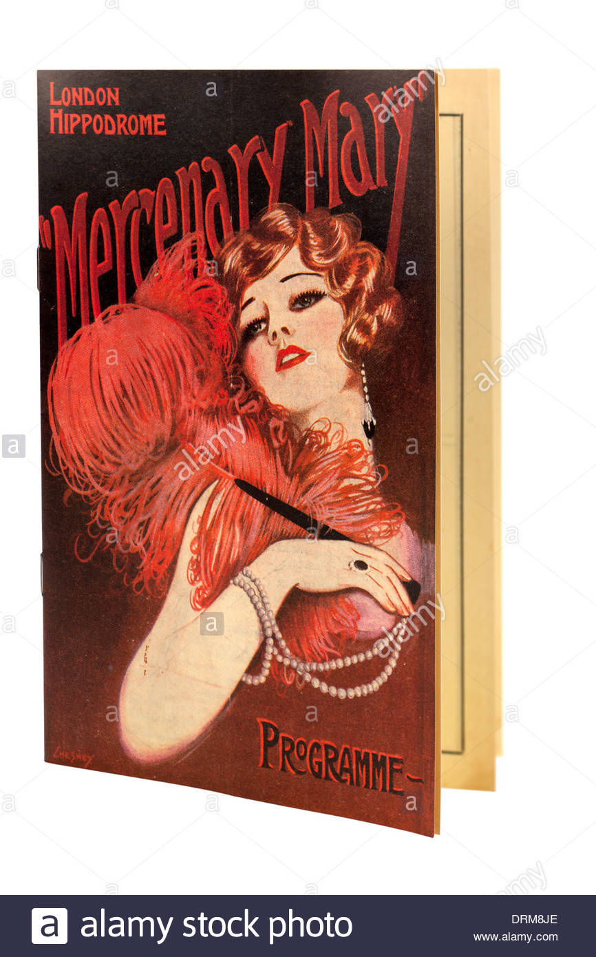 London Hippodrome Programme featuring Mercenary Mary. EDITORIAL ONLY - Stock Image