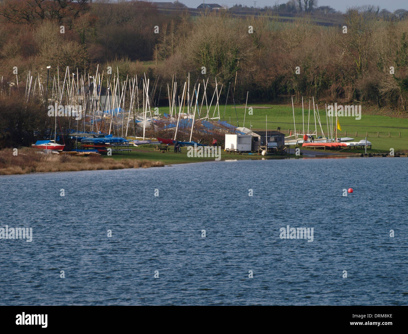 Watersport Centre, Roadford Reservoir, Devon, UK - Stock Image