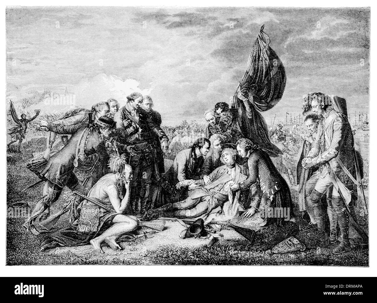 The death of General Wolfe - Stock Image