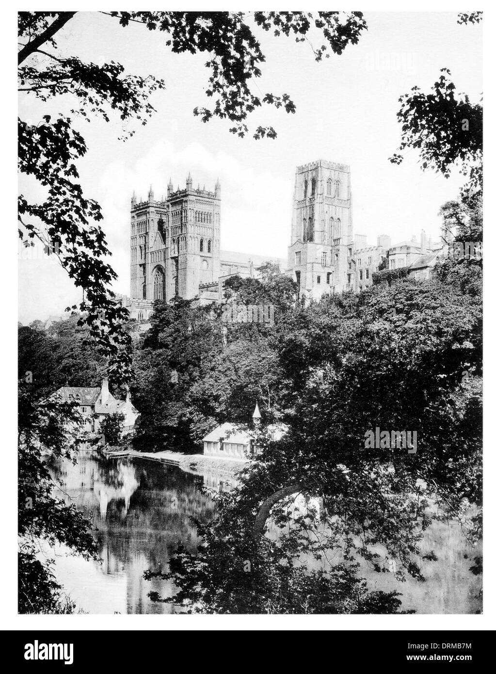 Durham Cathedral Church of Christ, Blessed Mary the Virgin and St Cuthbert of Durham  Photographed Circa 1910 - Stock Image