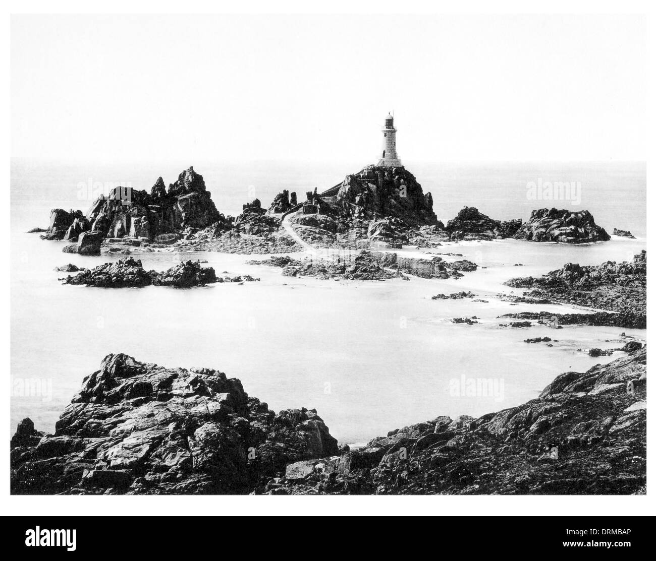 Corbiere Rocks, Jersey Photographed Circa 1910 - Stock Image