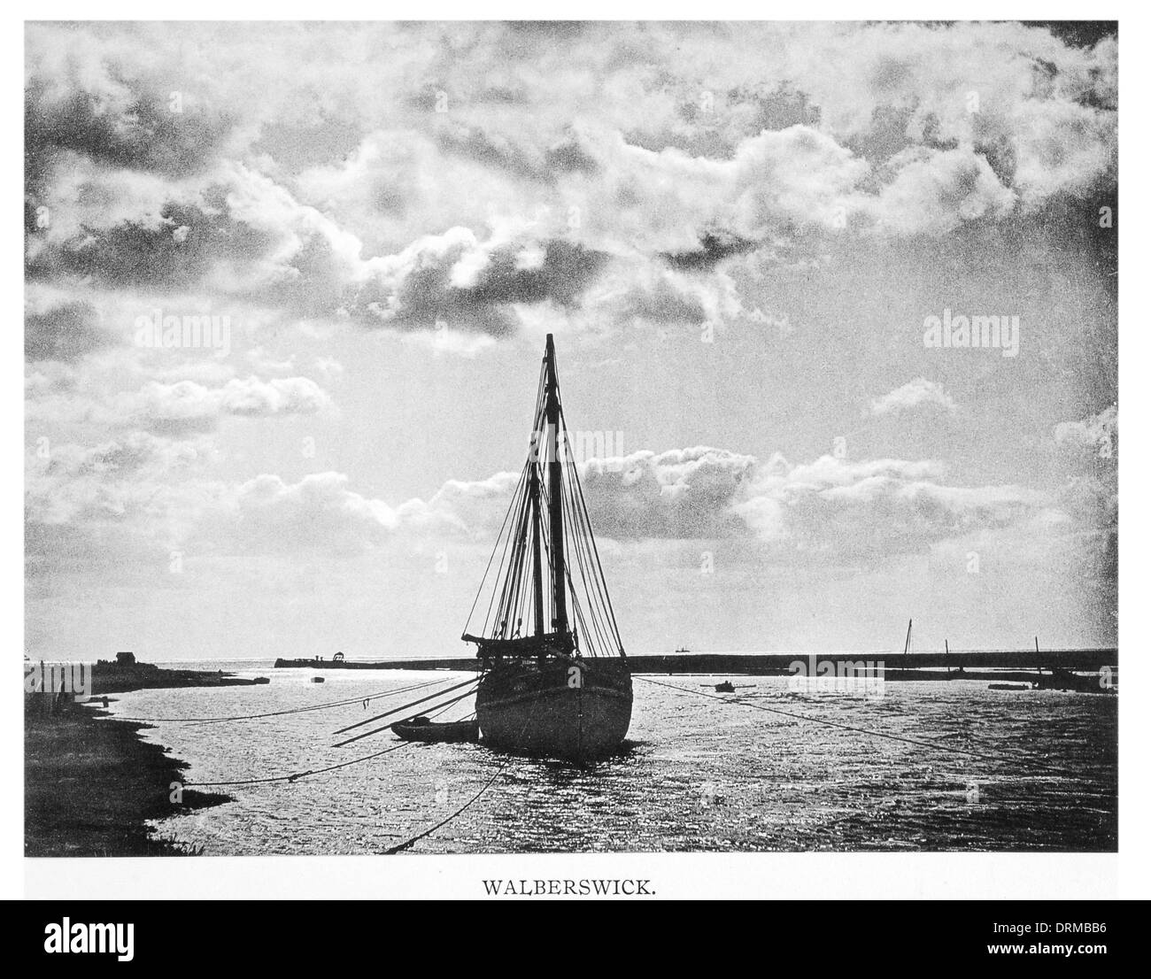 River Blyth Walberswick Suffolk coast Photographed Circa 1910 - Stock Image