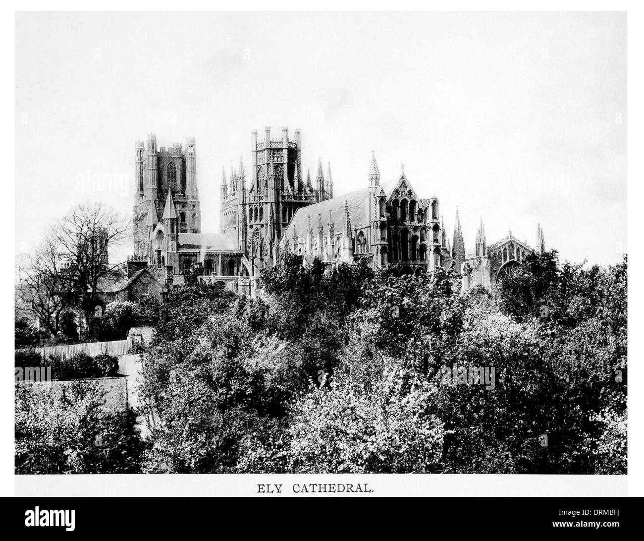 Cathedral Church of the Holy and Undivided Trinity of Ely Photographed Circa 1910 - Stock Image