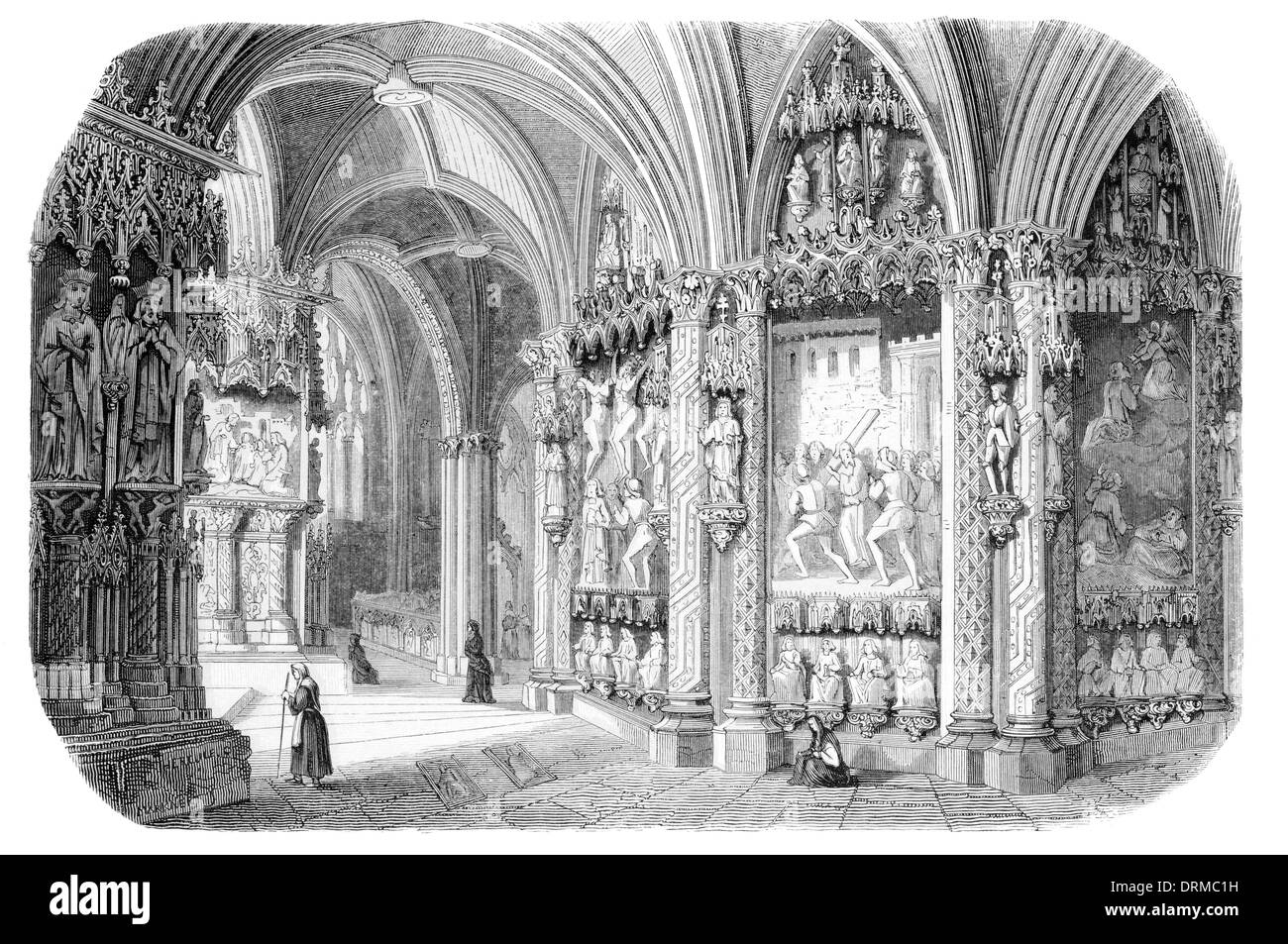 Interior Burgos Cathedral Catedral de Burgos a Gothic-style Roman ...