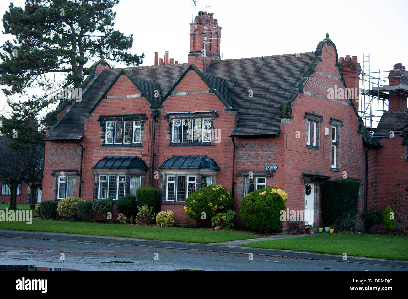 Lever Brothers Port Sunlight Village Houses Wirral UK - Stock Image