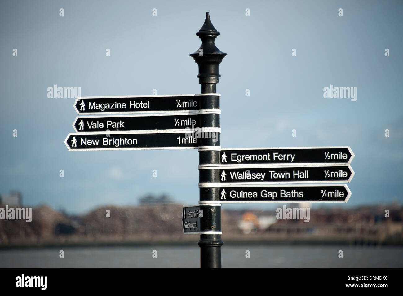 New Brighton Wallasey Egremont Ferry Wirral Sign - Stock Image