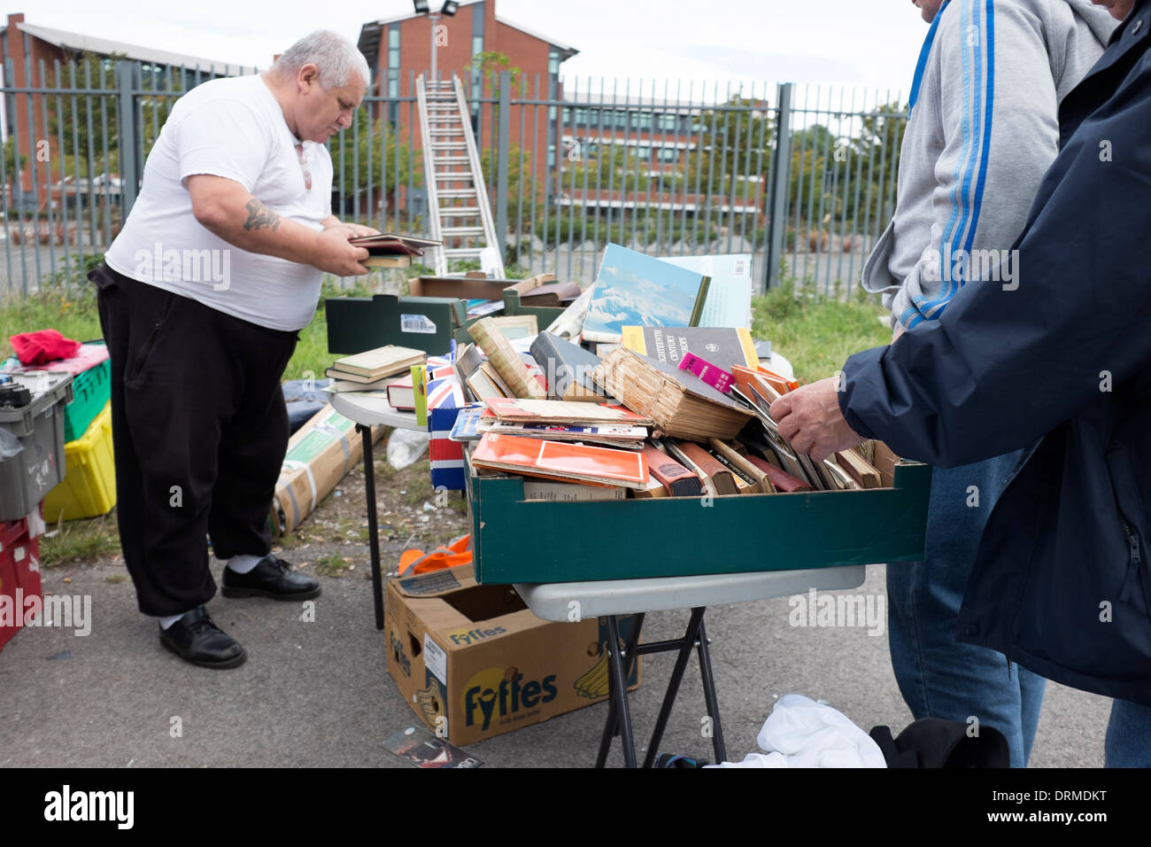 Secondhand Books for sale at Car Boot - Stock Image