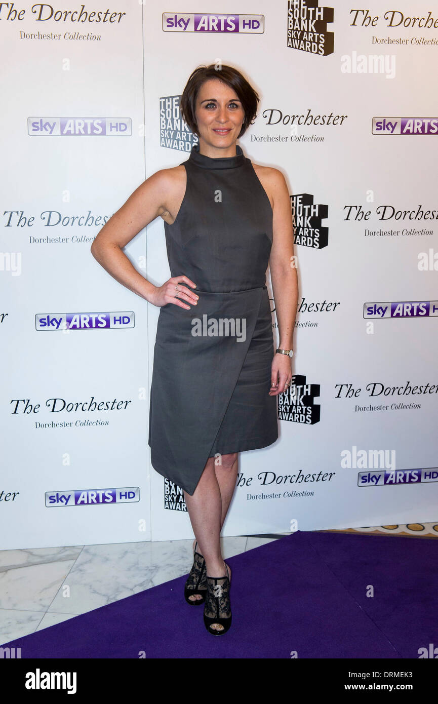 Vicky McClure at the South Bank Sky Arts awards at Dorchester Hotel on January 27, 2014 in London, England. - Stock Image