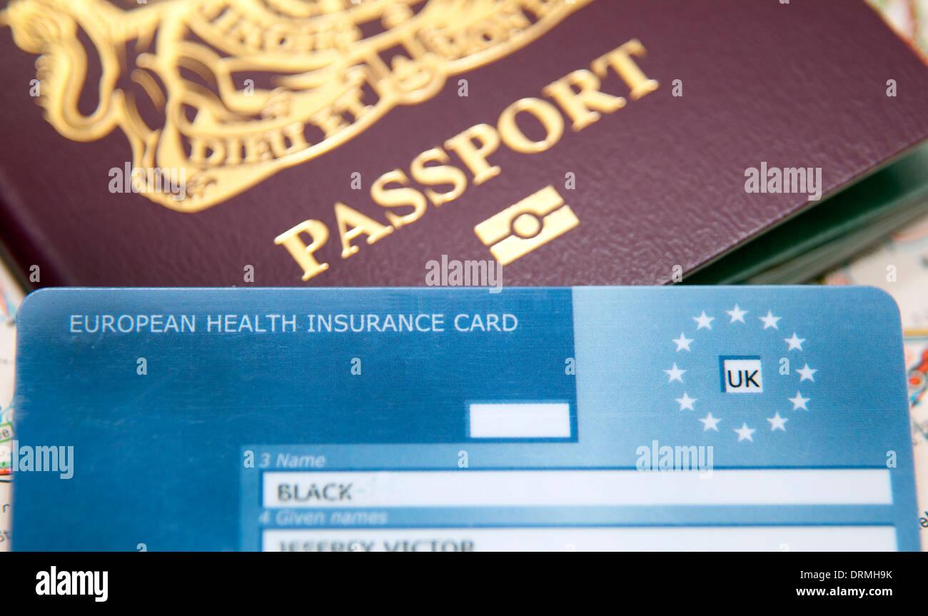 European Health Insurance Card (EHIC), London - Stock Image