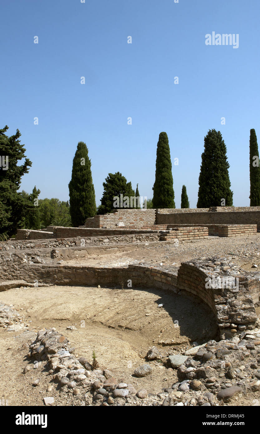 Spain. Italica. Roman city founded c. 206 BC. Andalusia. - Stock Image