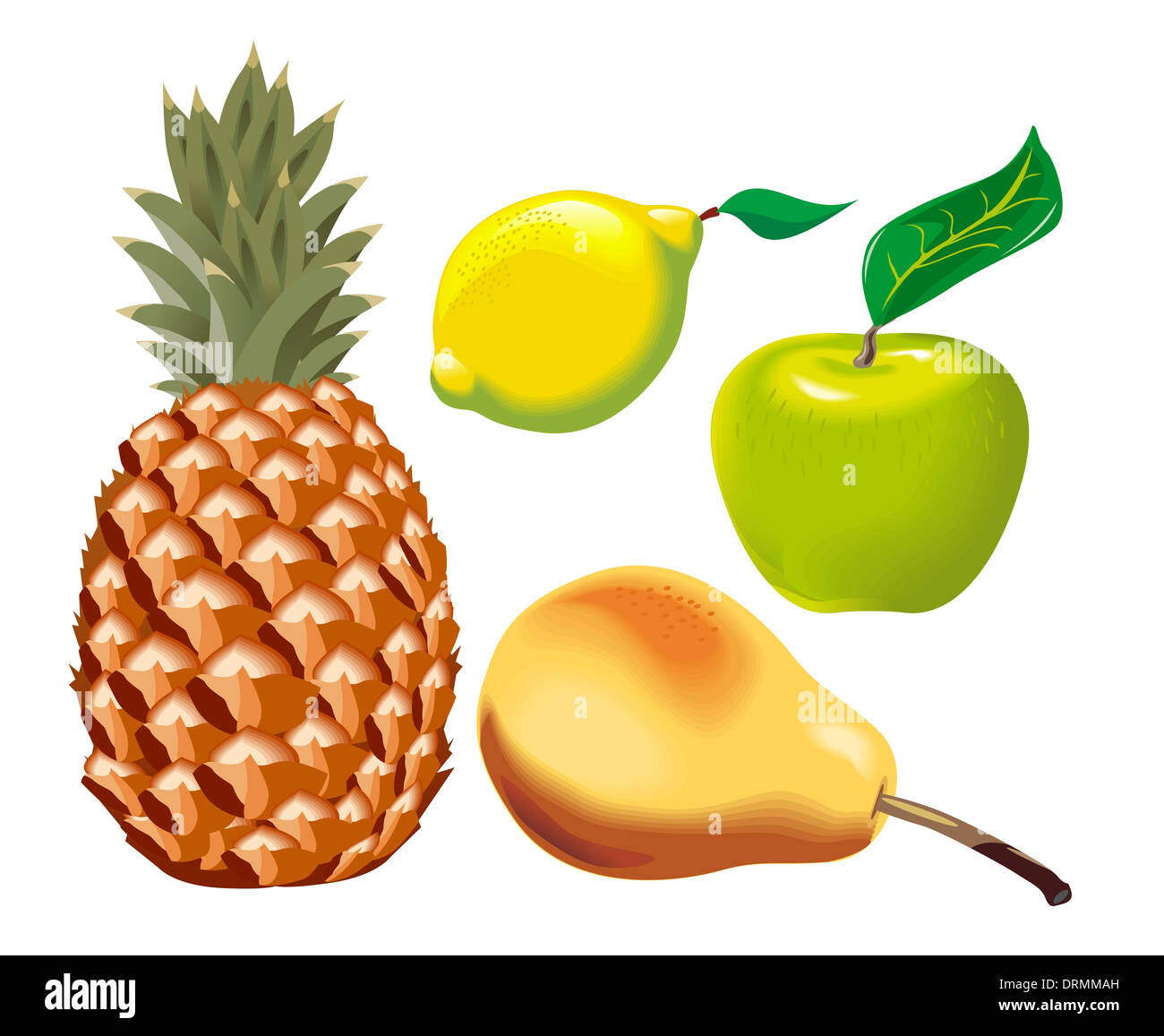 Obst Set - Stock Image