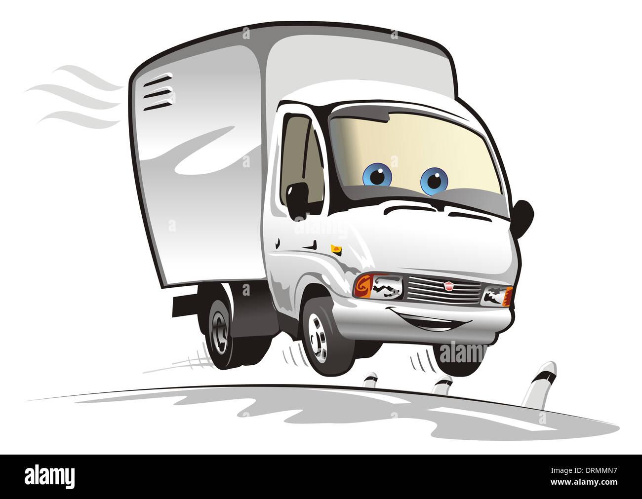 Cartoon delivery / cargo truck Stock Photo: 66223507 - Alamy