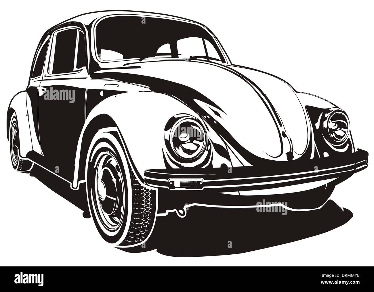 Retro Car Silhouette Stock Photo 66223679 Alamy