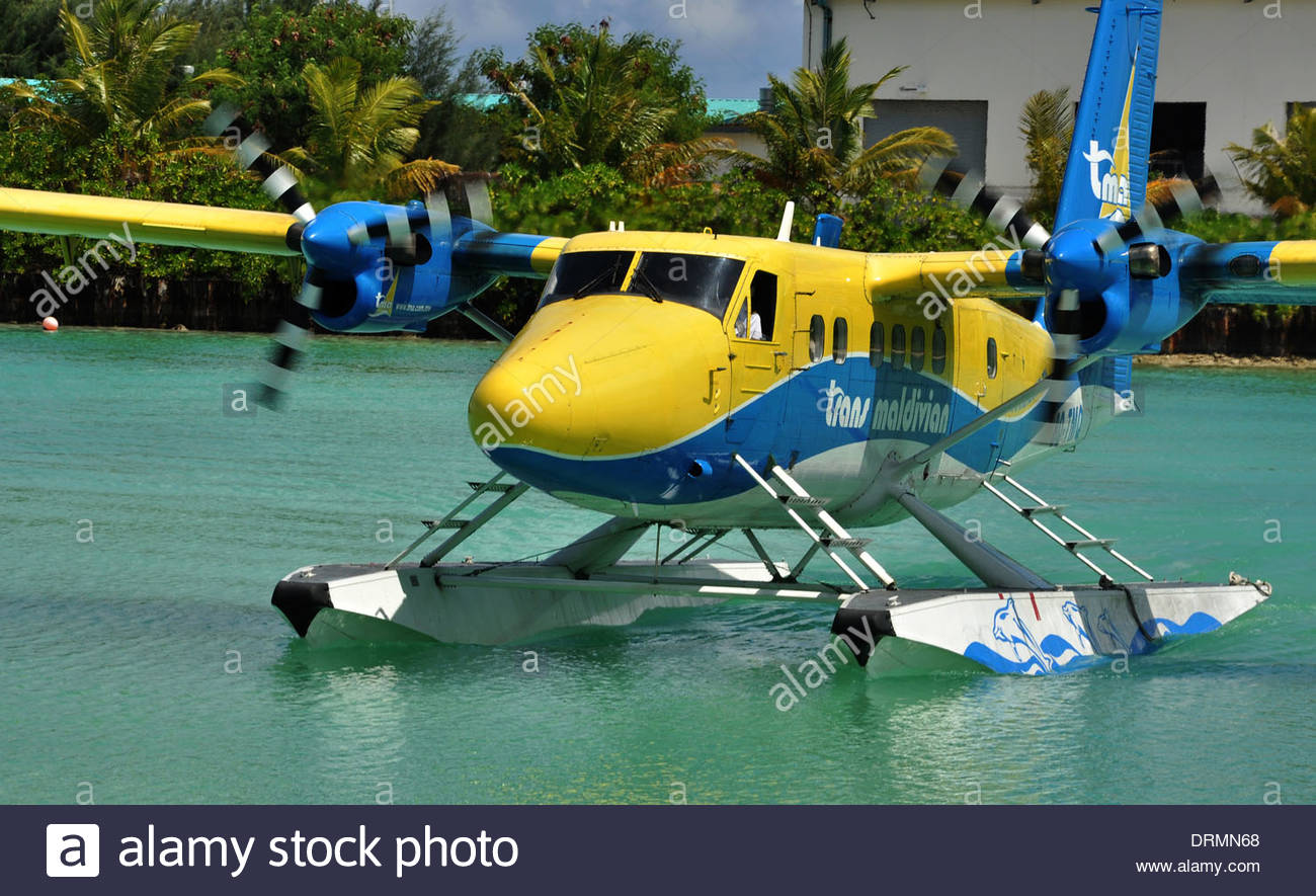 A sea plane at Ibrahim Nasir International Airport, Malé, The Maldives - Stock Image