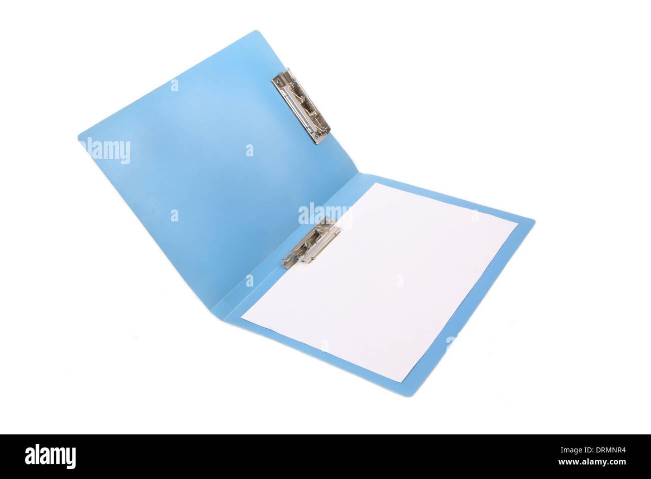 blue folder - Stock Image