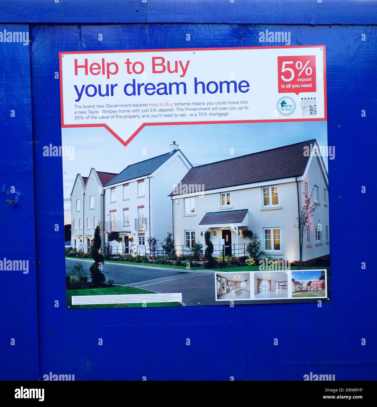 Advertisement for government backed help to buy home scheme, uk.