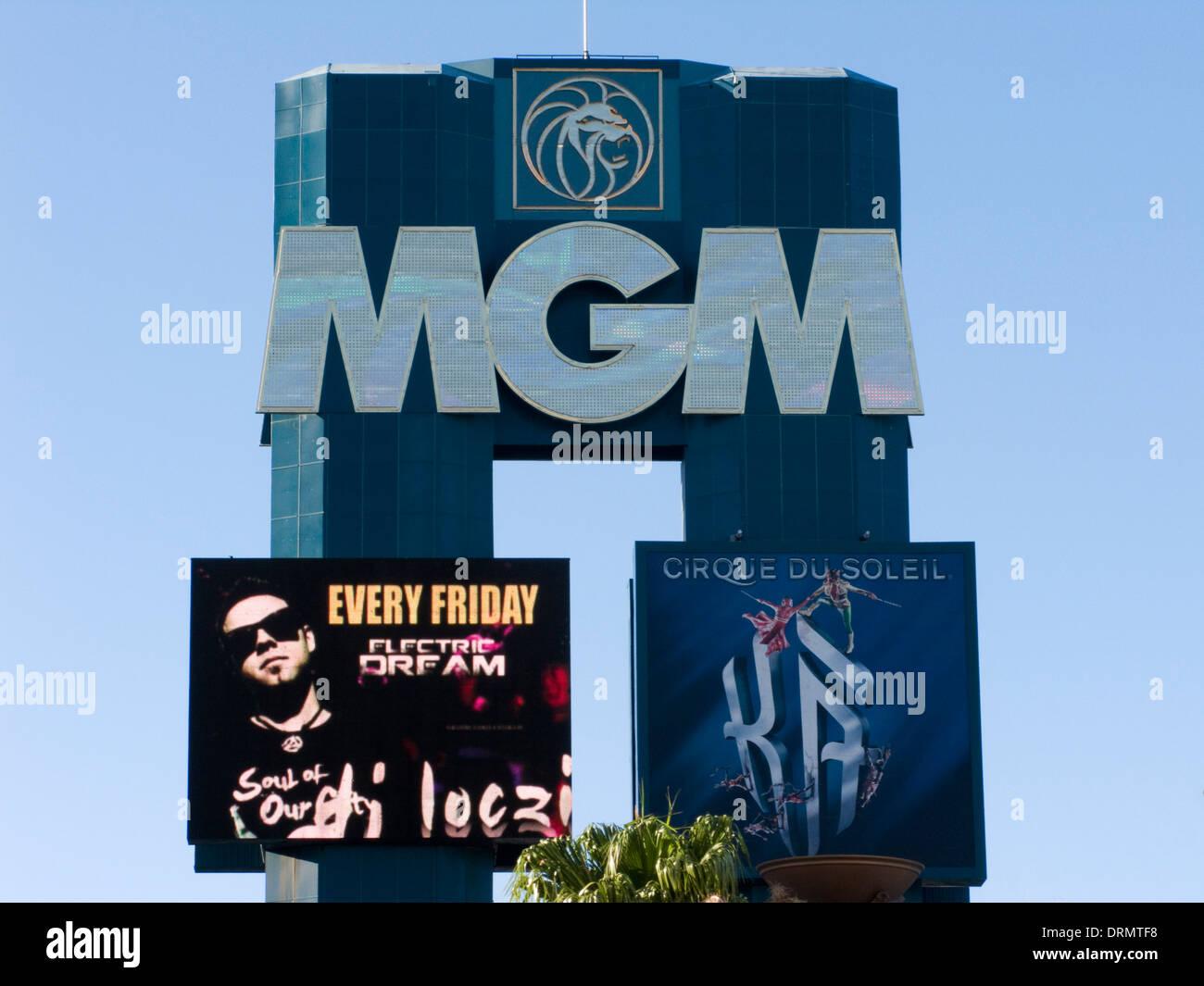 MGM Grand Hotel, Las Vegas, Nevada - Stock Image