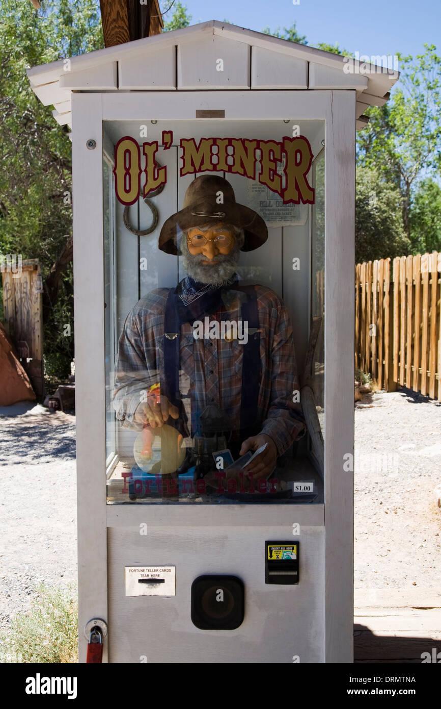 Ol' Miner Fortune Teller Machine - Stock Image