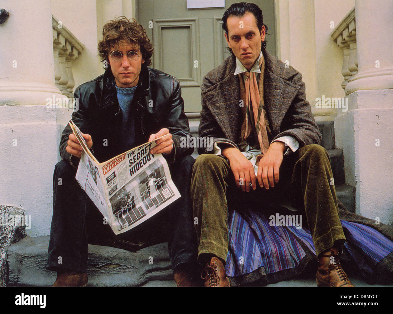 WITHNAIL AND I 1987 Handmade Films production with Paul McGann at left and Richard E Grant - Stock Image