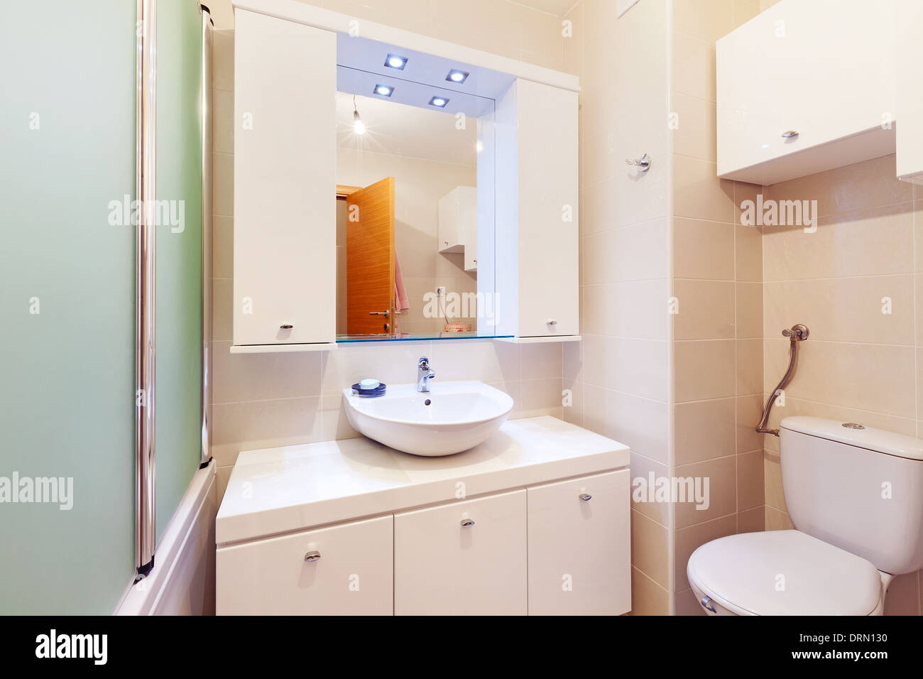 Small Apartment Bathroom New In White Clean And Modern