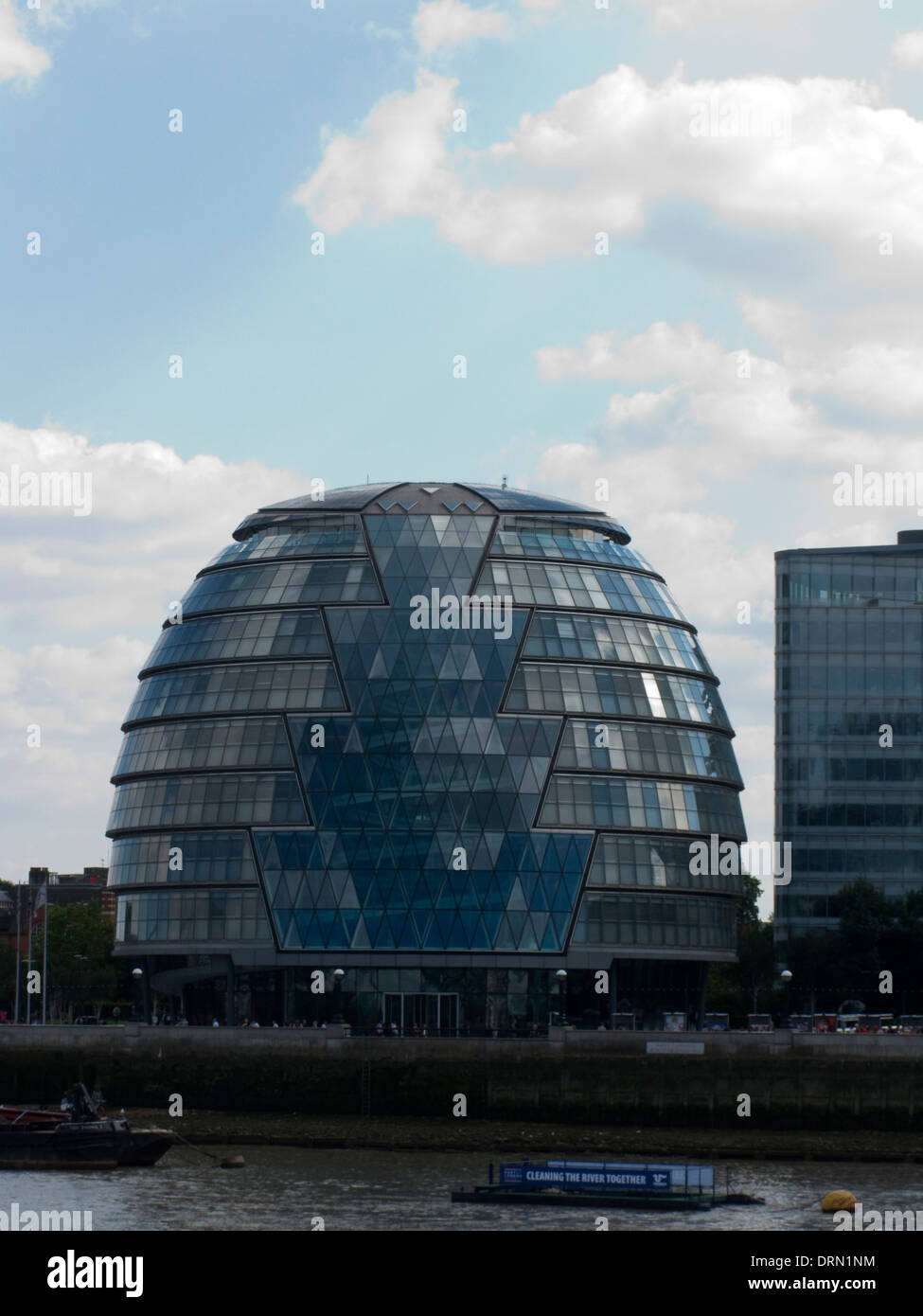 City Hall building beside River Thames, London, UK - Stock Image