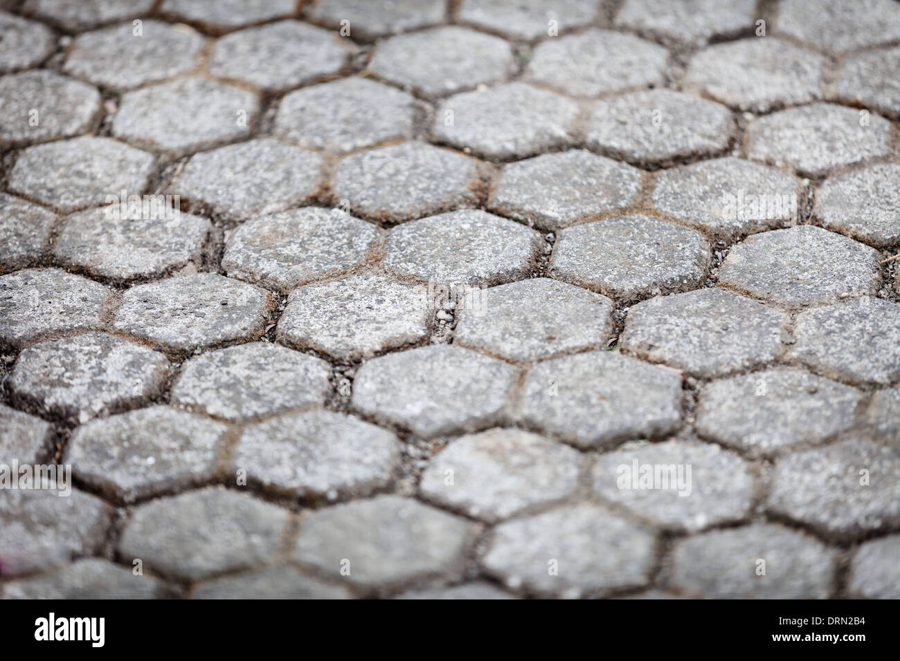 Stone pavements near the temple close up. Indonesia, Bali - Stock Image