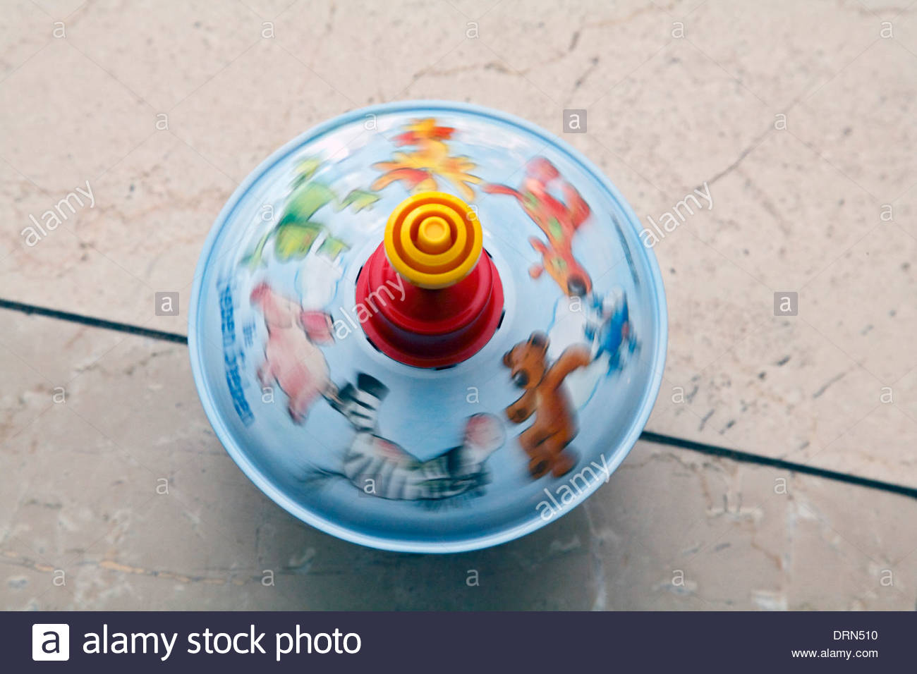 Toy, rotating humming top. - Stock Image