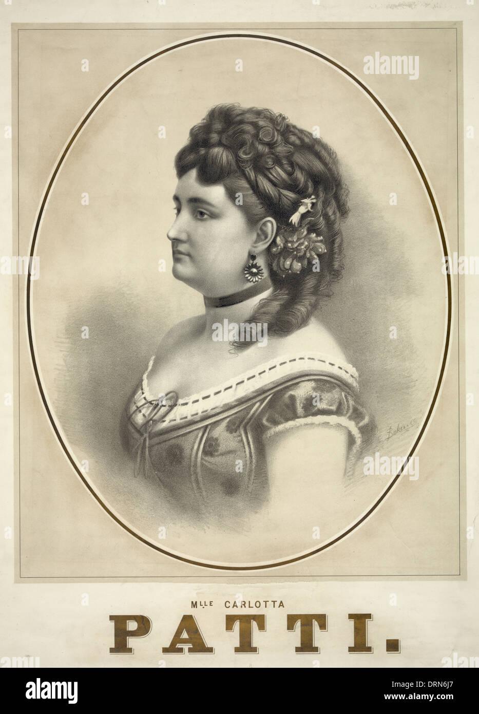 Carlotta Patti -  (c. 1840 – 27 June 1889) was a nineteenth-century operatic soprano, circa 1870 - Stock Image