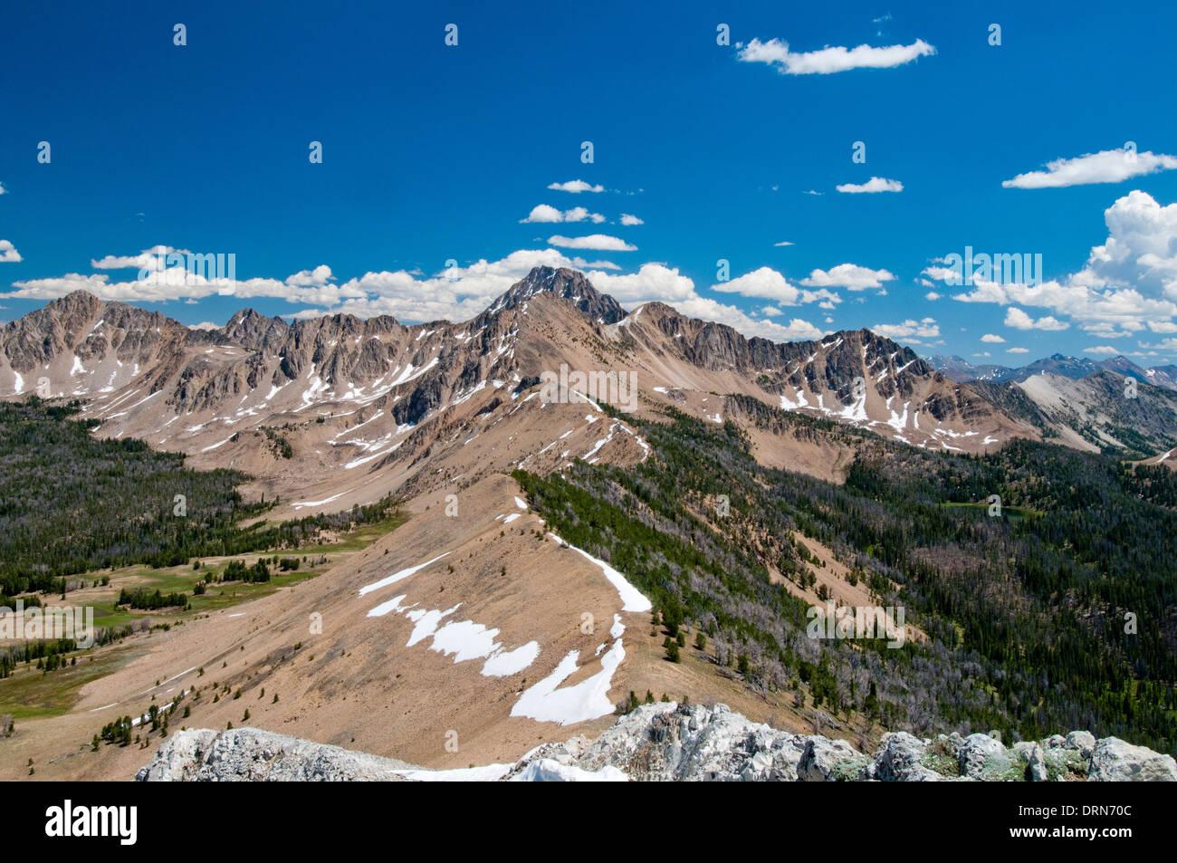 White Cloud Mountains Idaho USA - Stock Image