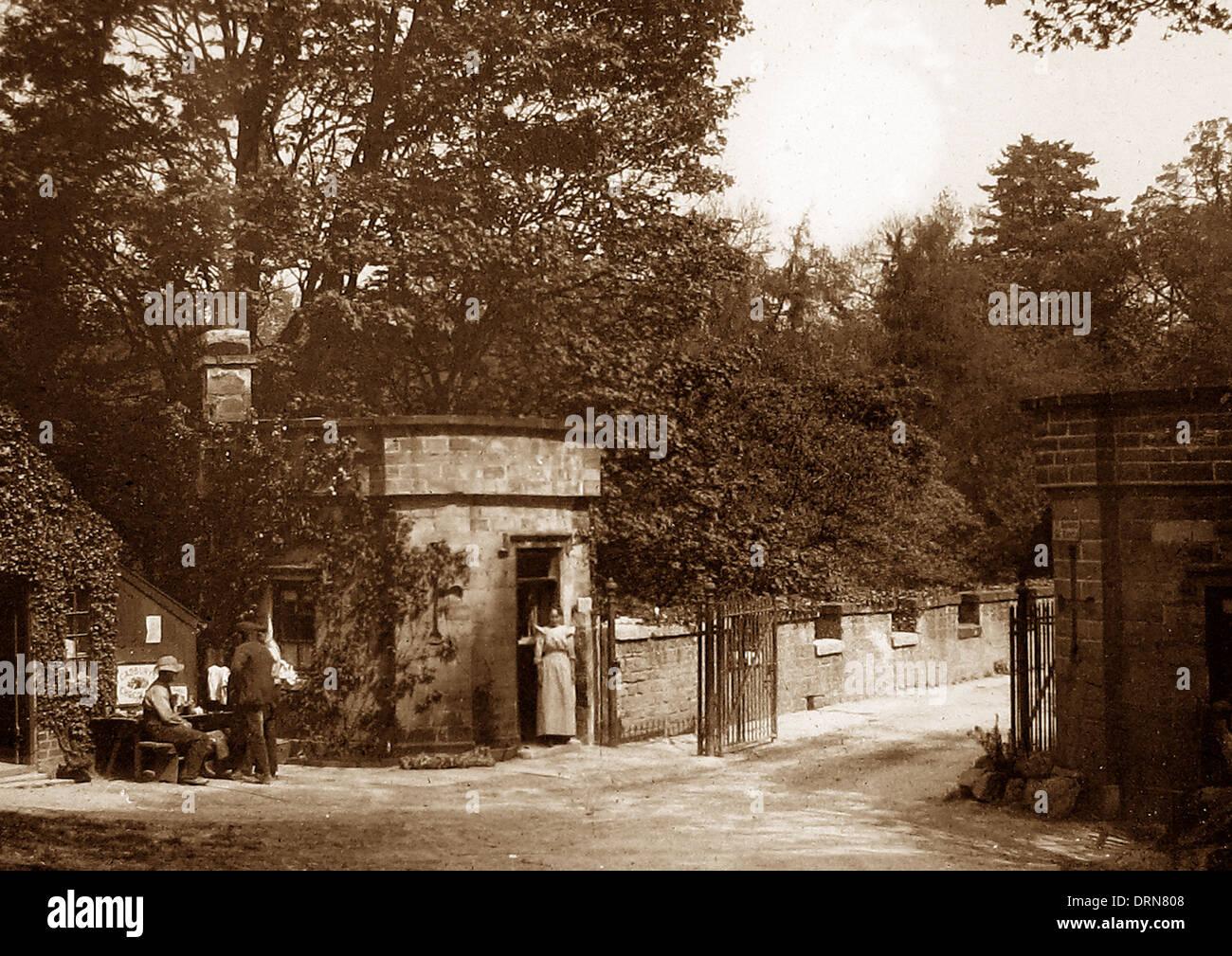 Barnard Castle Abbey Bridge Victorian period - Stock Image