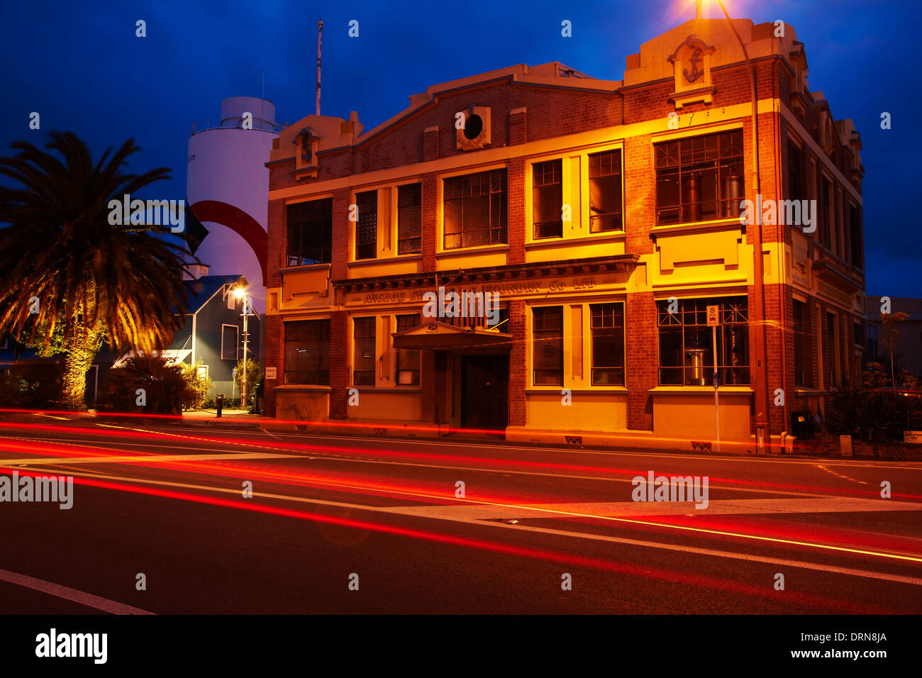 Historic Anchor Shipping & Foundry Building, Wakefield Quay, Nelson, South Island, New Zealand - Stock Image