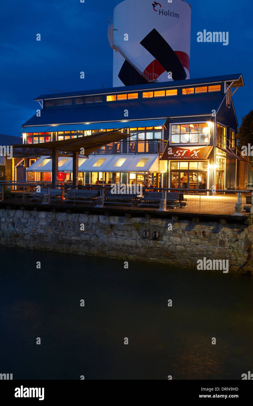 The Styx Kitchen Deli Bar, Wakefield Quay, Nelson, South Island, New Zealand - Stock Image
