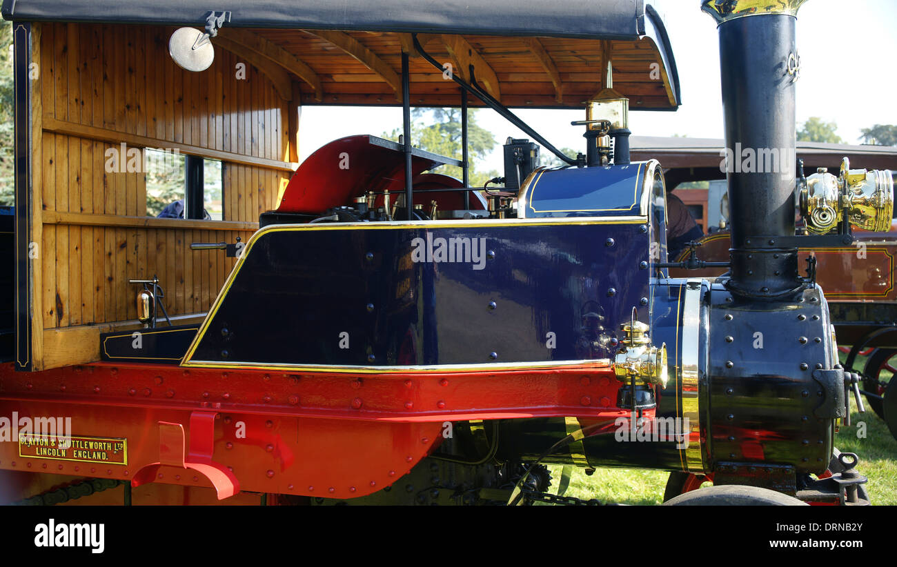 1920 Clayton steam lorry 48637 FE3704 at Bedford rally - Stock Image