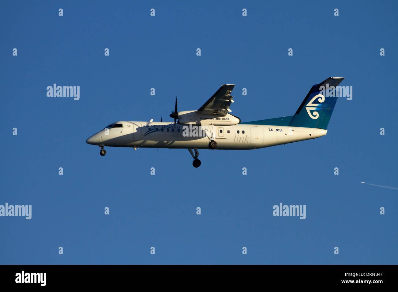 Air New Zealand Dash 8 aircraft - Stock Image