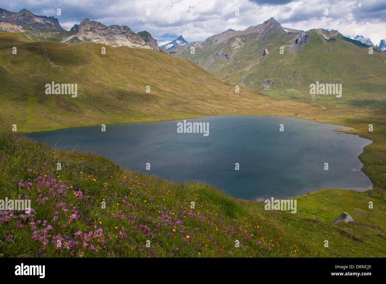 Lago De Verney Piccolo San Bernardo, Italy - Stock Image