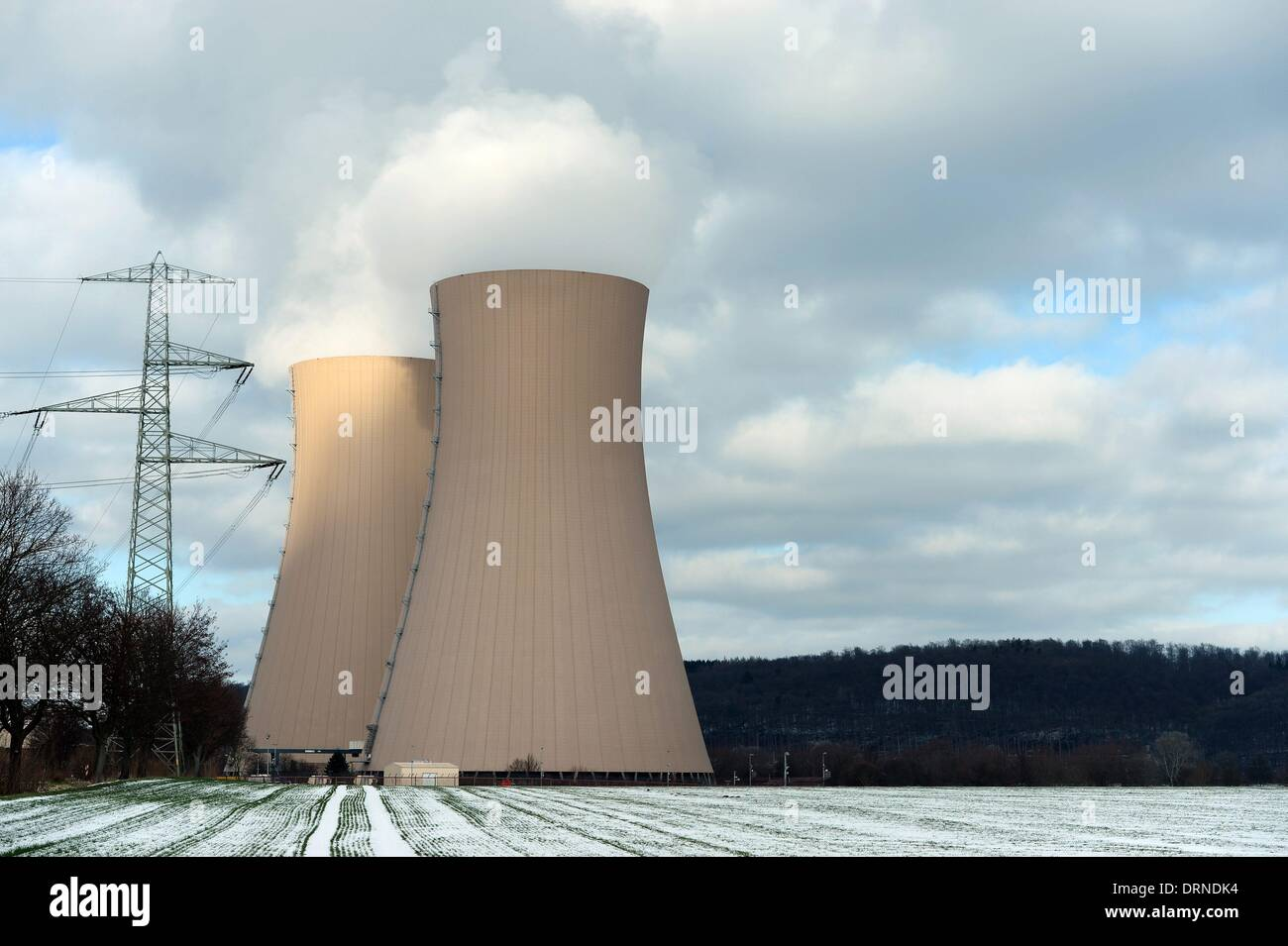 Nuclear power plant in Germany near Grohnde, 28. January 2014. Photo: Frank May - Stock Image