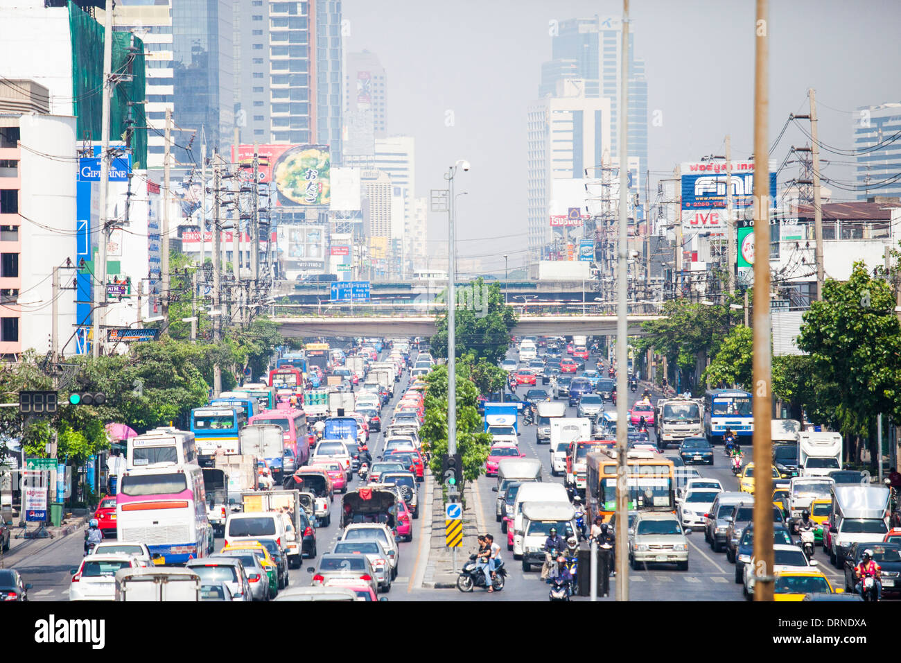 Traffic in Bangkok, Thailand - Stock Image