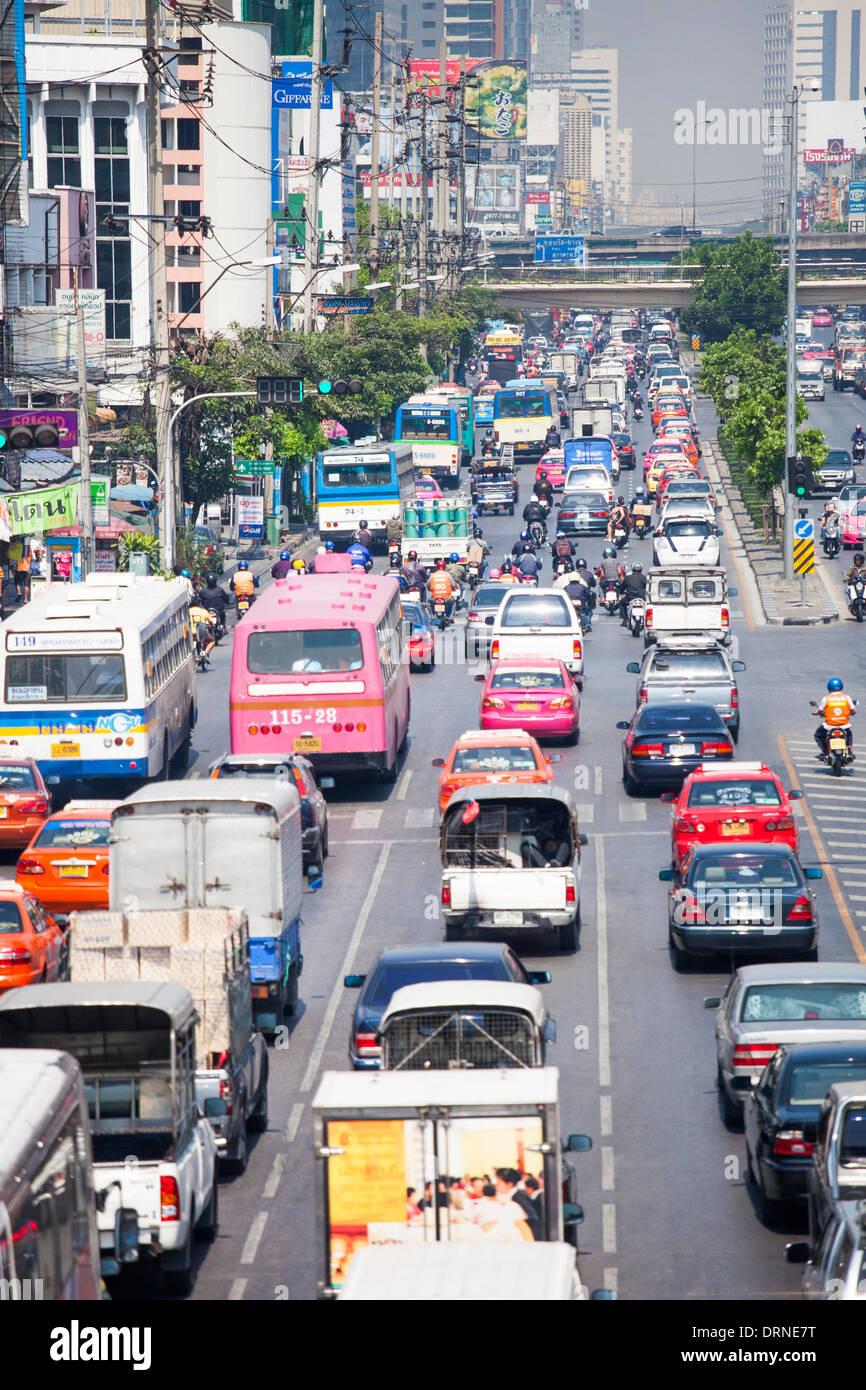 Traffic in Bangkok, Thailand - Stock Image